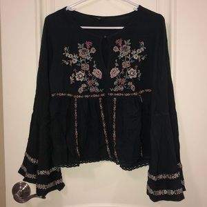 American Eagle Embroidered Crop Top